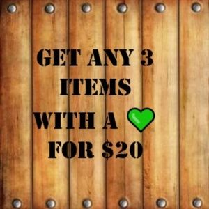💚 Fall Sale - Get any 3 items w a 💚 for $20